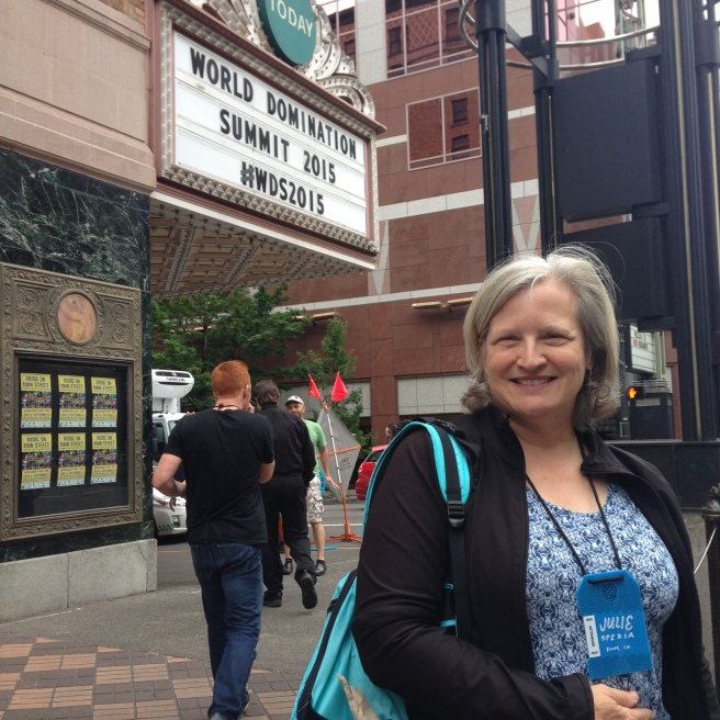 Outside the Arlene Schnitzer Concert Hall