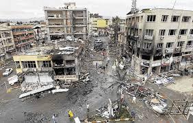 bombed syria