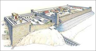 Another artist's rendering of ancient Hebrew temple.